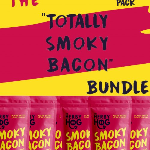 Six packs of Herby Hog Smoky Bacon seasoning with the title The Totally Smoky Bacon Bundle