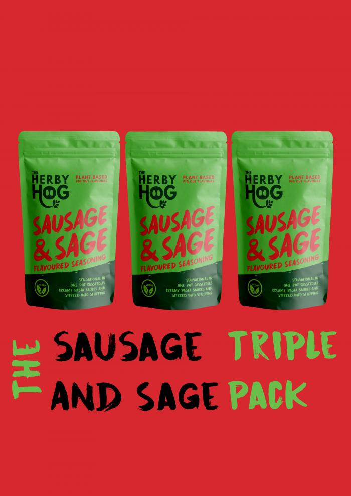 Three Packs of Sausage and Sage Seasoning